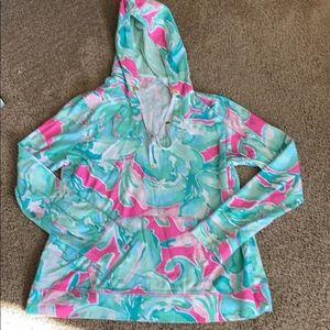 Lilly Pulitzer size extra large hooded sweatshirt